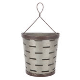 Slotted Galvanized Metal Wall Bucket